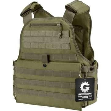 Barska Loaded Gear VX-500 MOLLE Plate Carrier Tactical Vest OD Green