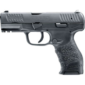 Walther Creed 9mm Luger Semi Auto Pistol 4 Barrel 16 Rounds Low Profile 3-Dot Sights Polymer Frame Black Finish